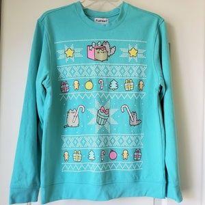 NEW Pusheen Cat Christmas Sweatshirt XS